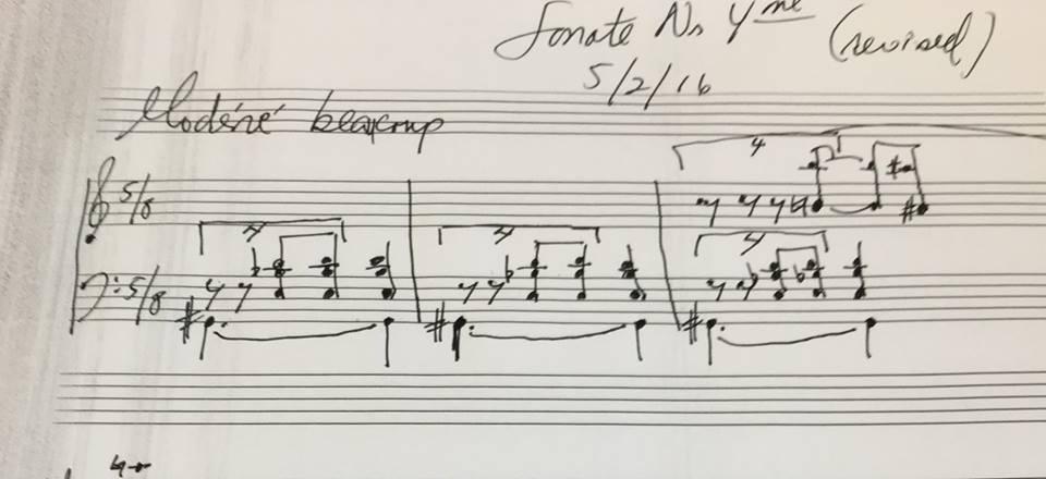 Handwritten sketch of revised Op. 20